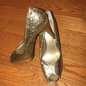 Glitter Gold Glamorous Heels